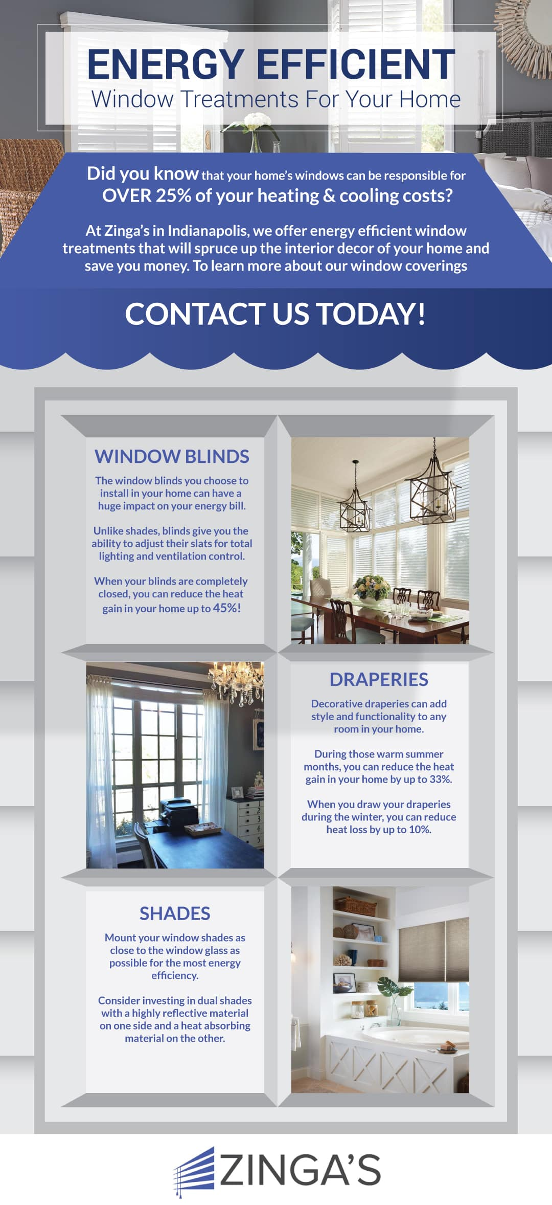 If You Re Interested In Learning More About Our Large Selection Of Blinds Shades Shutters And Draperies Contact Us Today